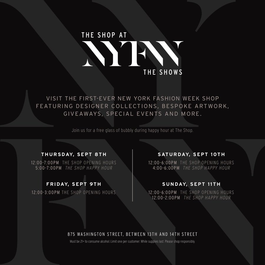 NYFW Pop Up Shop