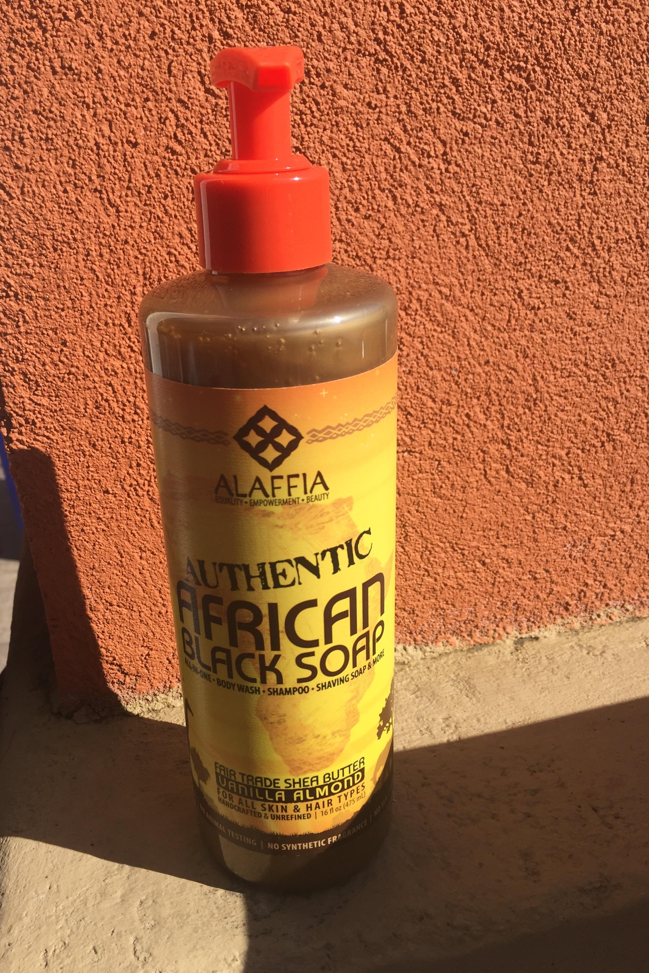 Alaffia Vanilla Almond African Black Soap 1