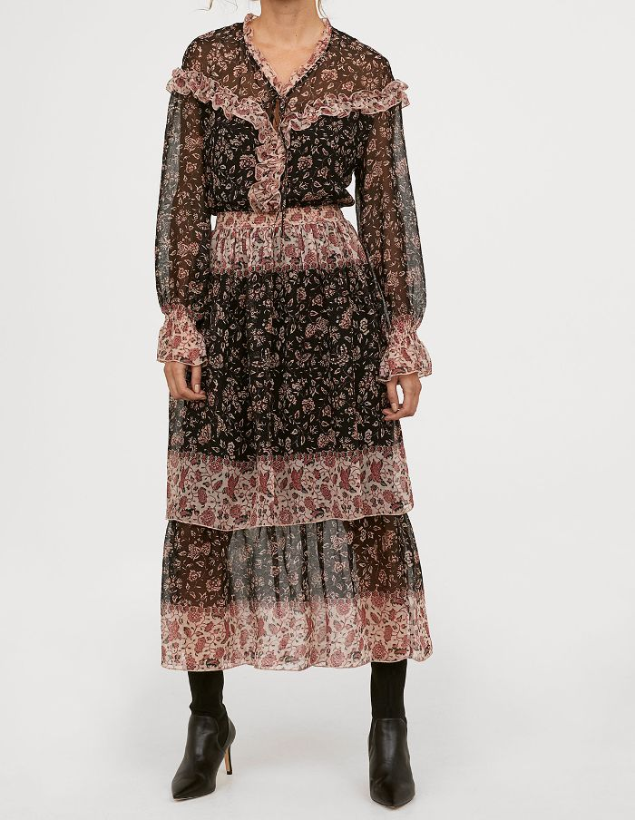 H&M V-Neck Ruffled Dress.JPG