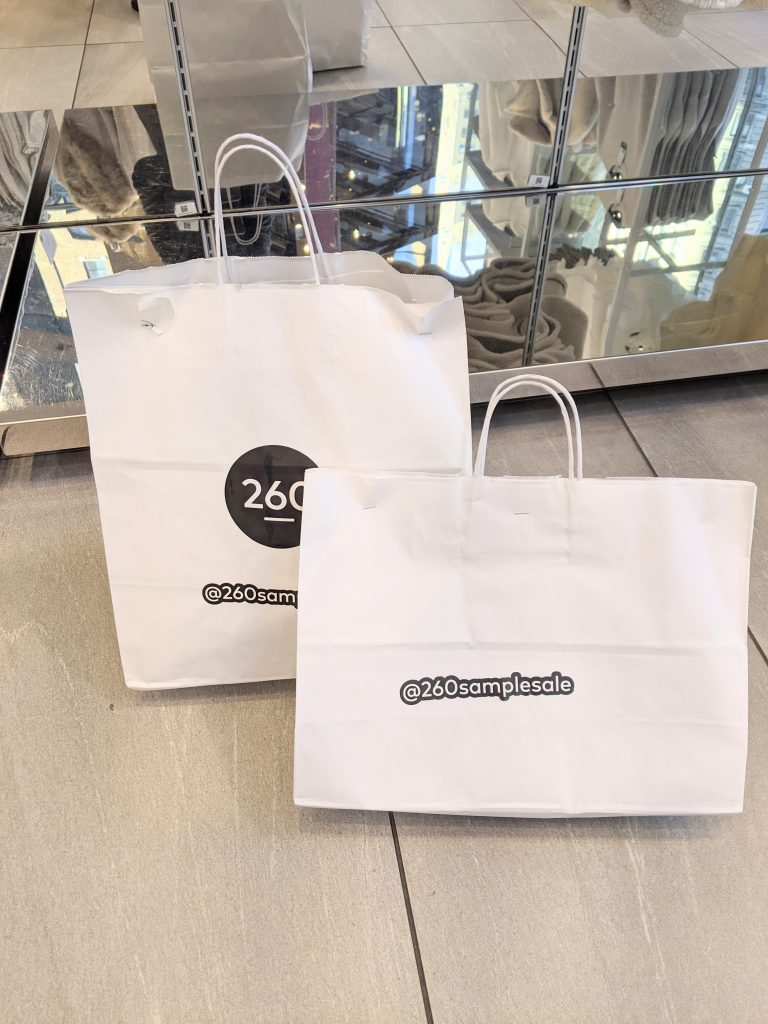 260 Sample Sale Bags